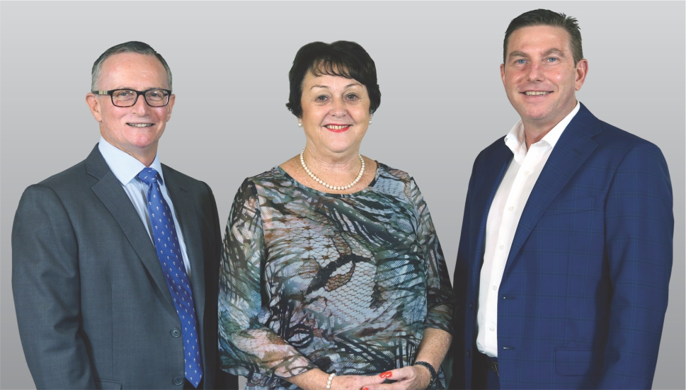 Bernard Baker (Chief Financial Officer), Cheryl Caughley (Manager), Andrew Musial (General Manager)