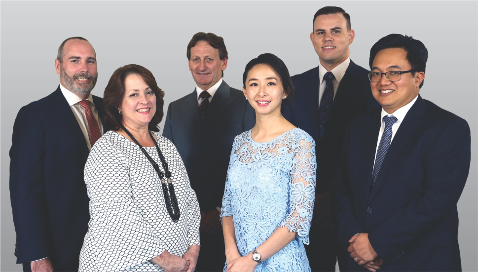 Michael Parer (Relationship Manager), Tina Disiot (Parish Liaison Support Manager), Mark Gray (Relationship Manager), Stephany Yang (Relationship Manager), James Smith (Financial Manager), David Mansul (Relationship Manager)